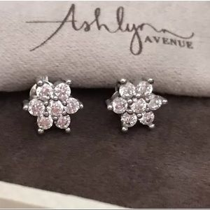 Jewelry - Ashley Avenue White Gold Plated CZ Earrings
